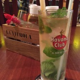Another mojito. . .somewhere.