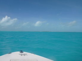 Heading out to an uninhabited cay.